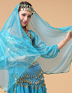 Belly Dance Veil Women's Performance Tulle Crystals/Rhinestones 1 Piece Headpieces Veil