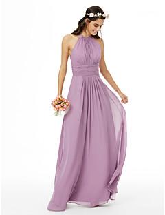 LAN TING BRIDE Na zem Klenot Šaty pro družičky - Krásná záda Bez rukávů Šifón