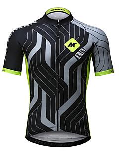 Mysenlan Jerseu Cycling Bărbați Manșon scurt Bicicletă Jerseu Uscare rapidă Respirabil Poliester Modă Vară