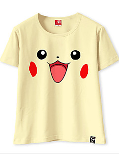 Inspired by Cosplay Cosplay Video Game Cosplay Costumes Cosplay T-shirt Solid Color PIKA PIKA T-shirt