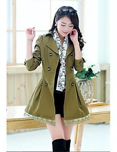 여성 셔츠 카라 긴 소매 코트