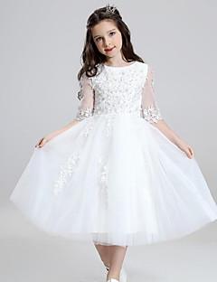 השמלה כוכב אורך השמלה פרח ילדה - אורגנזה עם ruffles ידי ydn