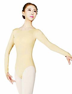 Danse classique justaucorps Femme Entraînement Polyester 1 Pièce Manche longue Taille haute Collant