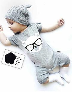 Baby Cotton Fashion Comfortable Short-Sleeved Cotton Pure Jumpsuit Dress Climb Clothes Bag Fart