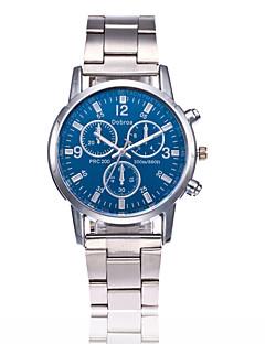 Homens Relógio de Moda Chinês Quartzo Aço Inoxidável Banda Casual Prata