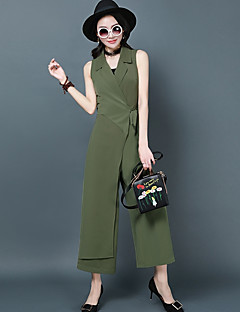 Women's Work Casual/Daily Jumpsuits,Simple Relaxed Business Solid Color Summer