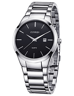 CURREN Herrn Sportuhr Modeuhr Armbanduhr Einzigartige kreative Uhr Armbanduhren für den Alltag Quartz Kalender Edelstahl BandKreativ