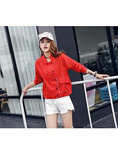 Trench Femme,Couleur Pleine Autre Quotidien Décontracté Mode Printemps Automne Mao Normal Coton Modal Polyester Maille