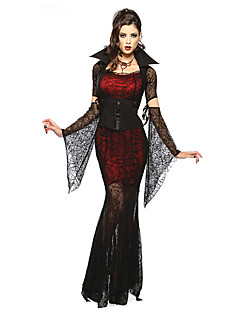 Cosplay Costumes/Party Costumes Vampires Halloween Red & Black Lace Spandex / Terylene Skirt / Sleeves / Belt / Necklace