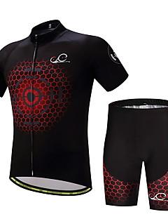 Camisa com Shorts para Ciclismo Homens Manga Curta Moto Conjuntos de Roupas Correira Anti-Escorregar Bem Ventilado Capilaridade Suavidade