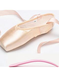 נשים ילדים בלט סטן שטוחות נעלי ספורט אימון מתחילים מקצועי פנימי הופעה עניבת פפיון שטוח בז' ללא התאמה אישית