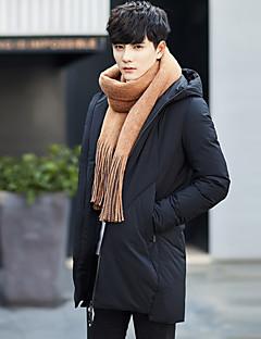 Erkek Solid Sade Dışarı Çıkma Kaban,Polyester Polipropilen Şişme Mont-Uzun Kollu