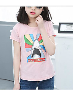 Girls' Print Tee,Cotton Summer