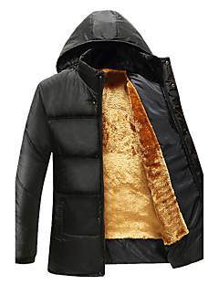 コート パッド入り メンズ,カジュアル/普段着 プラスサイズ ソリッド ナイロン ポリエステル ポリプロピレン-シンプル 長袖