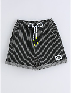 Boys' Stripe Shorts-Cotton Summer