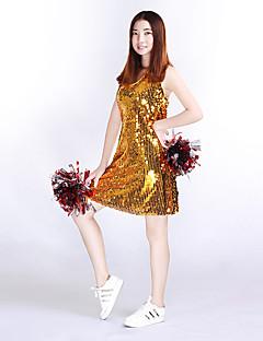 Kostýmy pro roztleskávačky Šaty Dámské Taneční vystoupení Úplet Jeden díl Bez rukávů Vysoký Šaty
