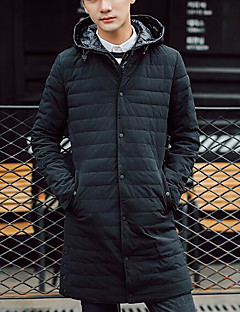 コート ロング ダウン メンズ,カジュアル/普段着 ソリッド その他 グレイダックダウン-シンプル 長袖