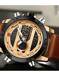 NAVIFORCE Pánské Sportovní hodinky Hodinky k šatům Módní hodinky Křemenný DigitálníLCD Kalendář Voděodolné Hodinky s dvojitým časem