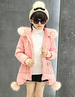 Genç Kız Polyester Solid Kırk Yama Sonbahar Kış Uzun Kol Şişme ve Pamuk Pedli