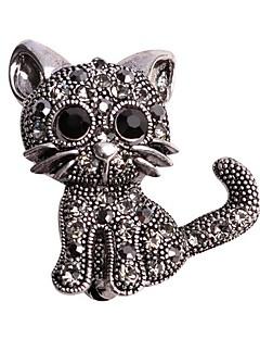 Naisten Rintaneulat Eläin Metalliseos Animal Shape Cat Korut Käyttötarkoitus Häät Kausaliteetti Iltajuhlat Uusivuosi