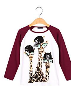 Jungen T-Shirt Andere Einfarbig Andere Herbst Lange Ärmel