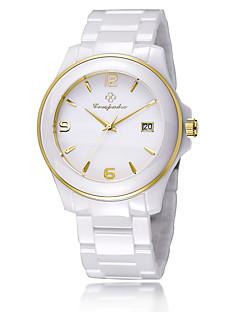 Pánské Dámské Módní hodinky Křemenný Keramika Kapela Běžné nošení Elegantní Bílá