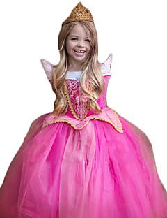 Cosplay Kostüme Prinzessin Fest/Feiertage Halloween Kostüme Rose Glitter Spitze Kleid Weihnachten Kindertag Silvester Kind