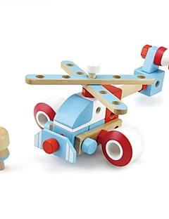 DHZ-kit Bouwblokken Educatief speelgoed Voor cadeau Bouwblokken Vliegtuig 2 tot 4 jaar 5 tot 7 jaar Speeltjes