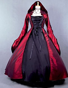 One-Piece/Dress Gothic Lolita Classic/Traditional Lolita Victorian Cosplay Lolita Dress Red N/A Puff Balloon Long Sleeves Floor-length