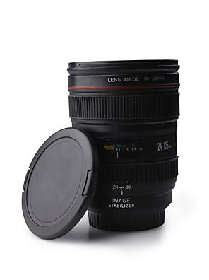 unieke kunststof simulatie dummy zoom lens koffie mok cup (350 ml)