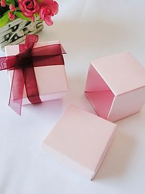 vierkante roze voor box (set van 24)