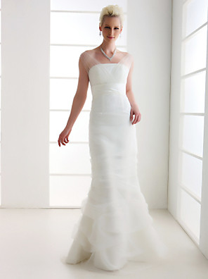 Lanting Bride® Trumpet / Mermaid Petite / Plus Sizes Wedding Dress - Classic & Timeless / Elegant & Luxurious Vintage Inspired