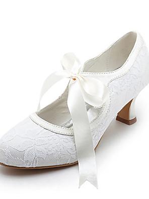 Női - Magassarkú / Mary Jane - Esküvői cipők - Magassarkú - Esküvői - Fehér