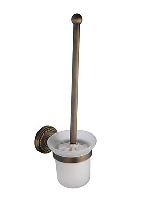"Toilet Brush Holder Antique Brass Wall Mounted 405 x 105 x 105mm (15.9 x 4.13 x 4.13"") Brass Antique"