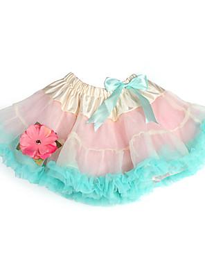 A-Linie / Princess Ke kolenům Šaty pro květinovou družičku - Tyl / Charmeuse s Mašle / Květina(y) / Volánky