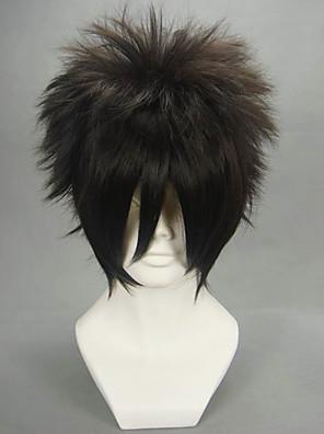 פאות קוספליי Naruto Sasuke Uchiha שחור קצרה אנימה פאות קוספליי 30 CM סיבים עמידים לחום זכר