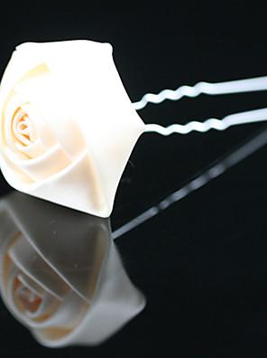 נשים / נערת פרחים סאטן כיסוי ראש-חתונה / אירוע מיוחד / משרד וקריירה / חוץ סיכת שיער