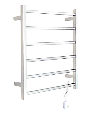 "Towel Warmer Stainless Steel Wall Mounted 700 x 540 x 55mm (27.5 x 21.2 x 2.16"") Stainless Steel Contemporary"