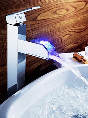 Sprinkle® fürdőszobai csapok  ,  Munkalap  with  Króm Kilincs Egy furat  ,  Funkció  for LED / Központi elhelyezésű