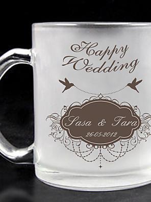 personlig frostet glas - lykkelig bryllup
