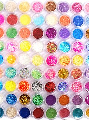 72 farver glitter nail art dekoration kombination