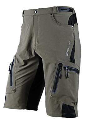 NUCKILY® מכנס קצר לרכיבה לגברים אופניים עמיד למים / נושם / ייבוש מהיר / רוכסן עמיד למים / לביש מכנסיים קצרים / מכנסיים / תחתיות פוליאסטר