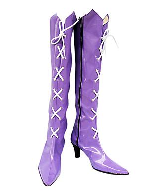Cosplay boty Sailor Moon Tomoe Hotaru Anime Cosplay obuv Fialová PU kůže Dámský