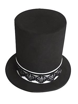 כובע קיבל השראה מ Vocaloid Hatsune Miku אנימה / משחקי וידאו אביזרי קוספליי כתרים / כובע שחור פוליאסטר נקבה