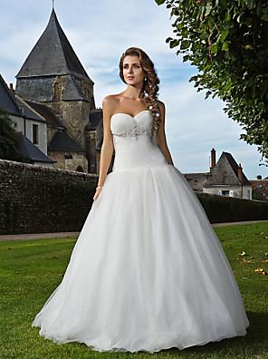 Lanting Bride® Wijd uitlopend Petite / Grote Maten Bruidsjurk - Klassiek & Tijdloos / Glamoureus & Dramatisch Geïnspireerd door vintage