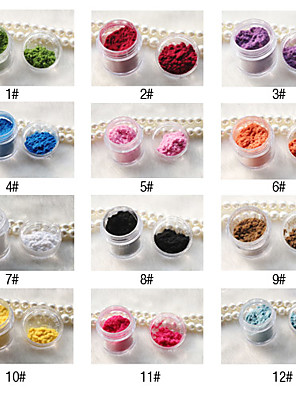 2pcs Anden DIY Style Nail Decorations (12 Color til valg)
