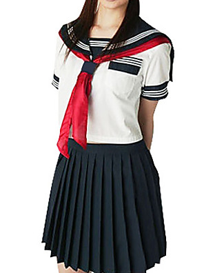Sexy Girl Ink Blue and White Polyester Schuluniform (2 Stück)