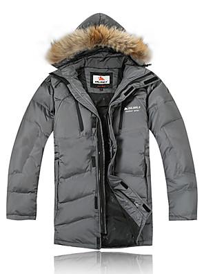 Roupa de Esqui Jaquetas de Penas / Jaqueta de Inverno Homens Roupa de Inverno 100% Poliéster / Tosão Vestuário de InvernoImpermeável /
