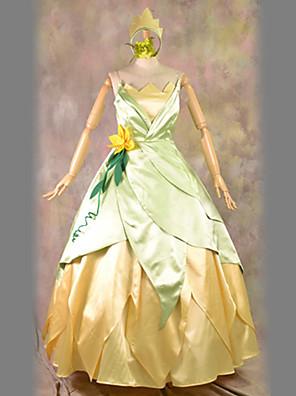 תחפושות קוספליי / תחפושת למסיבה נסיכות פסטיבל/חג תחפושות ליל כל הקדושים צהוב וינטאג' שמלה / כיסוי ראש האלווין (ליל כל הקדושים) / קרנבל