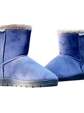 Newest Men's PU Leather Flat Mid-calf Winter Boots